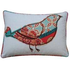 Zanzibar Bird Cotton Throw Pillow