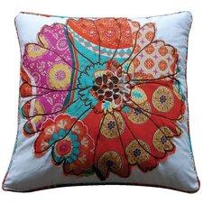 Zanzibar Flower Cotton Throw Pillow