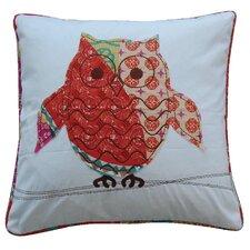 Zanzibar Owl Cotton Throw Pillow