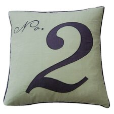 Toile Number Two Feather Cotton Throw Pillow