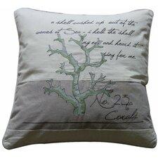 Pescador Coral Number 23 Feather Cotton Throw Pillow