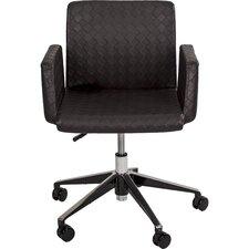 Klinton Checkered Mid-Back Swivel Office Chair