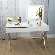 Porsha Desk and Vanity with Mirror