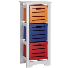 Cool Colors Kids 3 Bin Toy Organizer