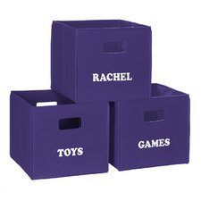 Personalized Toy Storage Bin Set