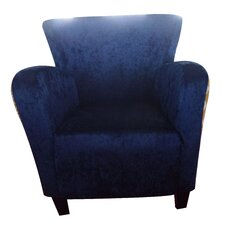 Arm Chair in Navy Blue/Yellow