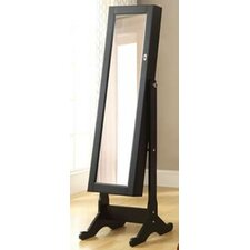 Standing Storage Jewelry Armoire with Mirror