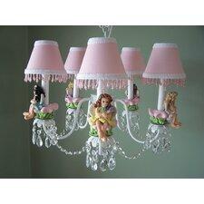 My Fairy Princess 5 Light Chandelier