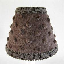 "5"" Chocolate Minky Fabric Empire Candelabra Shade"