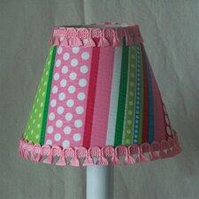 """5"""" Stripes Gone Crazy Fabric Empire Candelabra Shade"""
