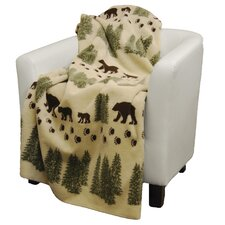 Pearl Bear Double-Sided Throw
