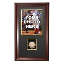 Vertical Photo and Baseball Shadow Box Display