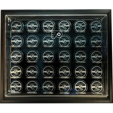 """NHL Thirty Puck """"Case-Up"""" Logo Display Case"""