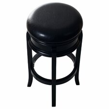 "Ornate 29"" Swivel Bar Stool with Cushion"