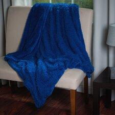 Solid Plush Sherpa Throw Blanket