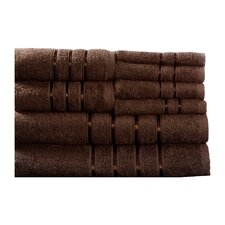 100% Egyptian Cotton Plush 8 Piece Bath Towel Set