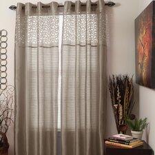 Sonya Sheer Single Curtain Panel with Grommet Top