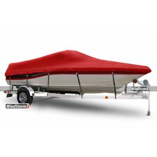 WindStorm V-Hull Runabout Boat Cover with Windshield and Bow Rails