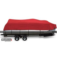 WindStorm Pontoon Boat Cover with Rails