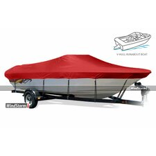 WindStorm V-Hull Outboard Fishing Boat Cover with Walk-Thru Windshield
