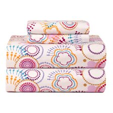 Celeste Home Ultra Soft Flannel Poppi Cotton Sheet Set