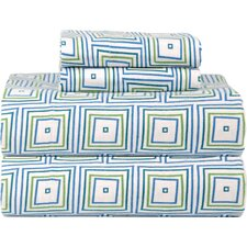 Celeste Home Ultra Soft Flannel Matrix Cotton Sheet Set