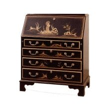 Traditions Painted Drawer Secretary with Laptop Pigeon Holes