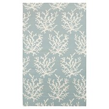 Boardwalk Sky Blue & White Area Rug