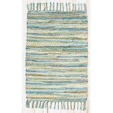 Velvet Aqua/Turquoise Area Rug