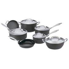 Green Gourmet Hard-Anodized Aluminum 12-Piece Cookware Set