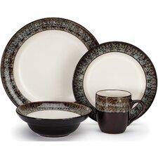 Colette Glazed Stoneware 16 Piece Dinnerware Set