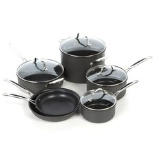 Chef's Classic Non-stick Hard-Anodized 10 Piece Cookware Set