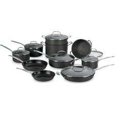 Chef's Classic Nonstick Hard-Anodized 17 Piece Cookware Set