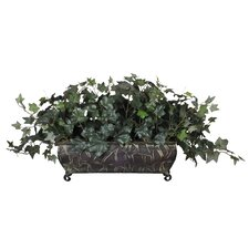 Artificial English Ivy Ledge Desk Top Plant in Planter