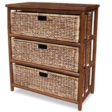3 Drawer Open Side Cabinet