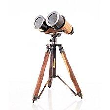 Decorative Wood / Brass Binocular on Stand