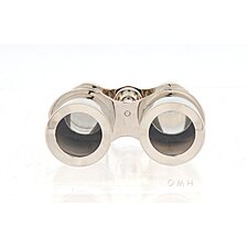 Decorative Brass Binocular with Leather Case