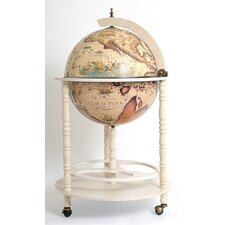 Globe Drinks Cabinet Floor Stand-White