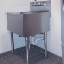 "24"" x 24"" Single Freestanding Utility Sink"