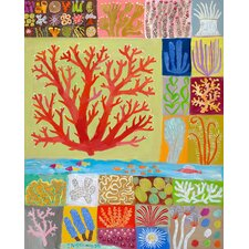 Coral Collection by Donna Ingemanson Painting Print on Wrapped Canvas