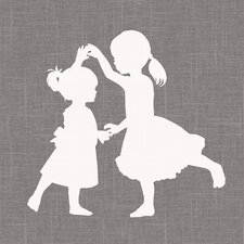 """Sisters Dance Simple"" by Patti Rishforth Graphic Art on Canvas"