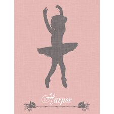 """Ballerina Face Left Personalized"" by Patti Rishforth Graphic Art on Canvas"