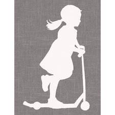"""""""Scooter Girl"""" by Patti Rishforth Graphic Art on Canvas"""