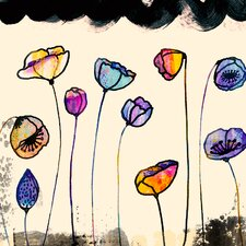 """""""Painted Poppy Field"""" by Sara Franklin Graphic Art on Canvas"""