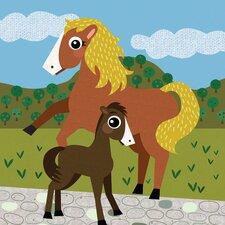 Horse Field Canvas Art