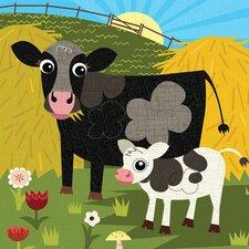Cow Pasture Canvas Art