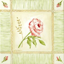Cottage Rose Right Leaning Canvas Art