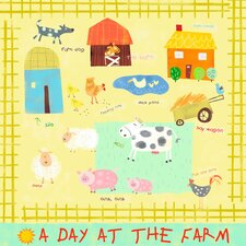 A Day at the Farm Canvas Art