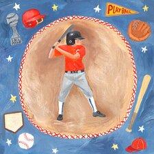 Baseball Star Canvas Art