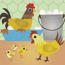 Chicken Coop Canvas Art